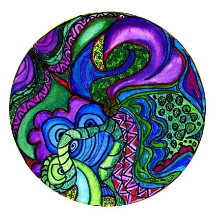 zentangle inspired doodling