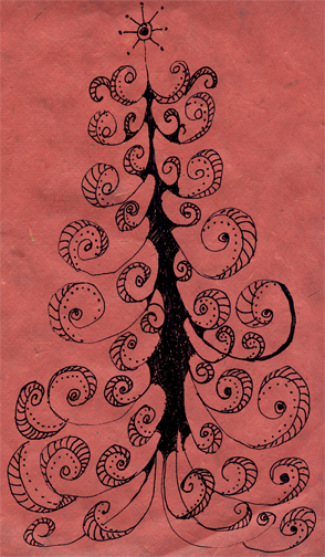red-doodle-tree