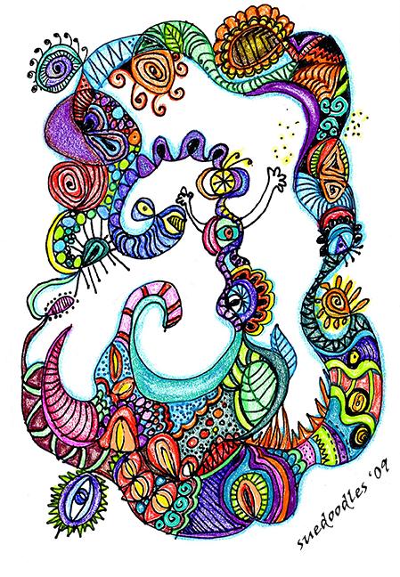 gel pen sue doodles